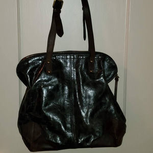 EUC! Nino BOSSI Leather Shoulder Bag